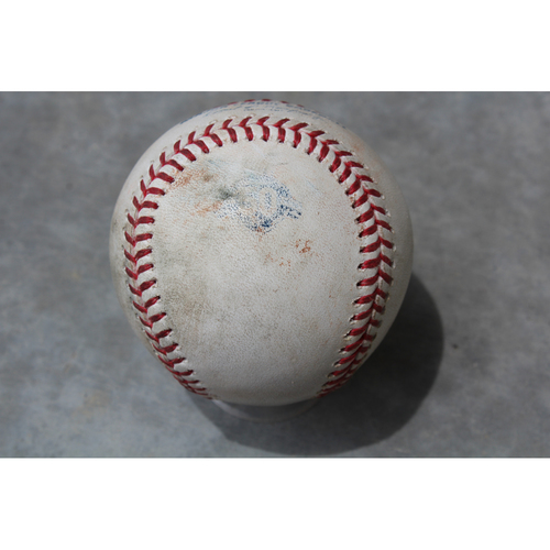 Photo of Game Used Baseball: Wilson Ramos 662nd Career Hit and Adeiny Hechavarria 676th Career Hit, 223rd and 222nd Career RBI (TB at KC - 5/16/18)