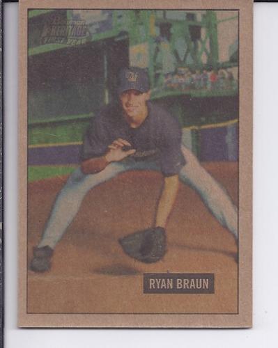 Photo of 2005 Bowman Heritage Mahogany #341 Ryan Braun