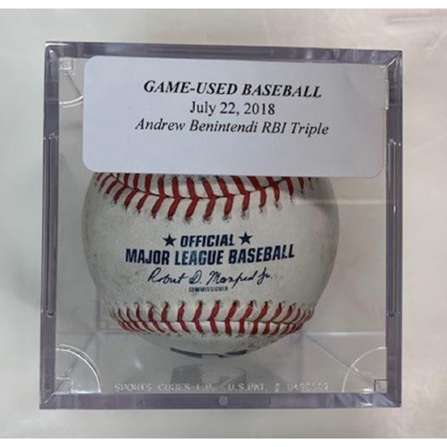 timeless design 406a4 7f413 MLB Auctions | Game-Used Baseball Andrew Benintendi RBI Triple