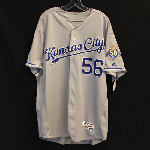 Photo of Game-Used Jersey: Brad Keller (Size 50 - 9/8/18 - KC @ MIN)