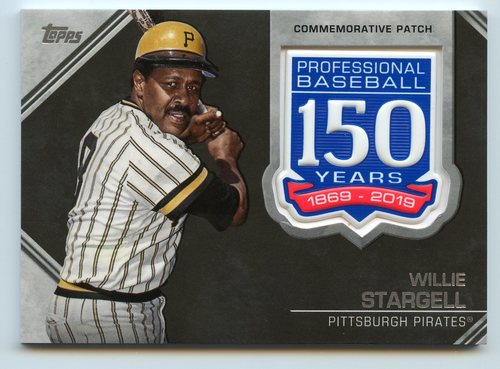 Photo of 2019 Topps 150th Anniversary Manufactured Patches #AMPWS Willie Stargell S2