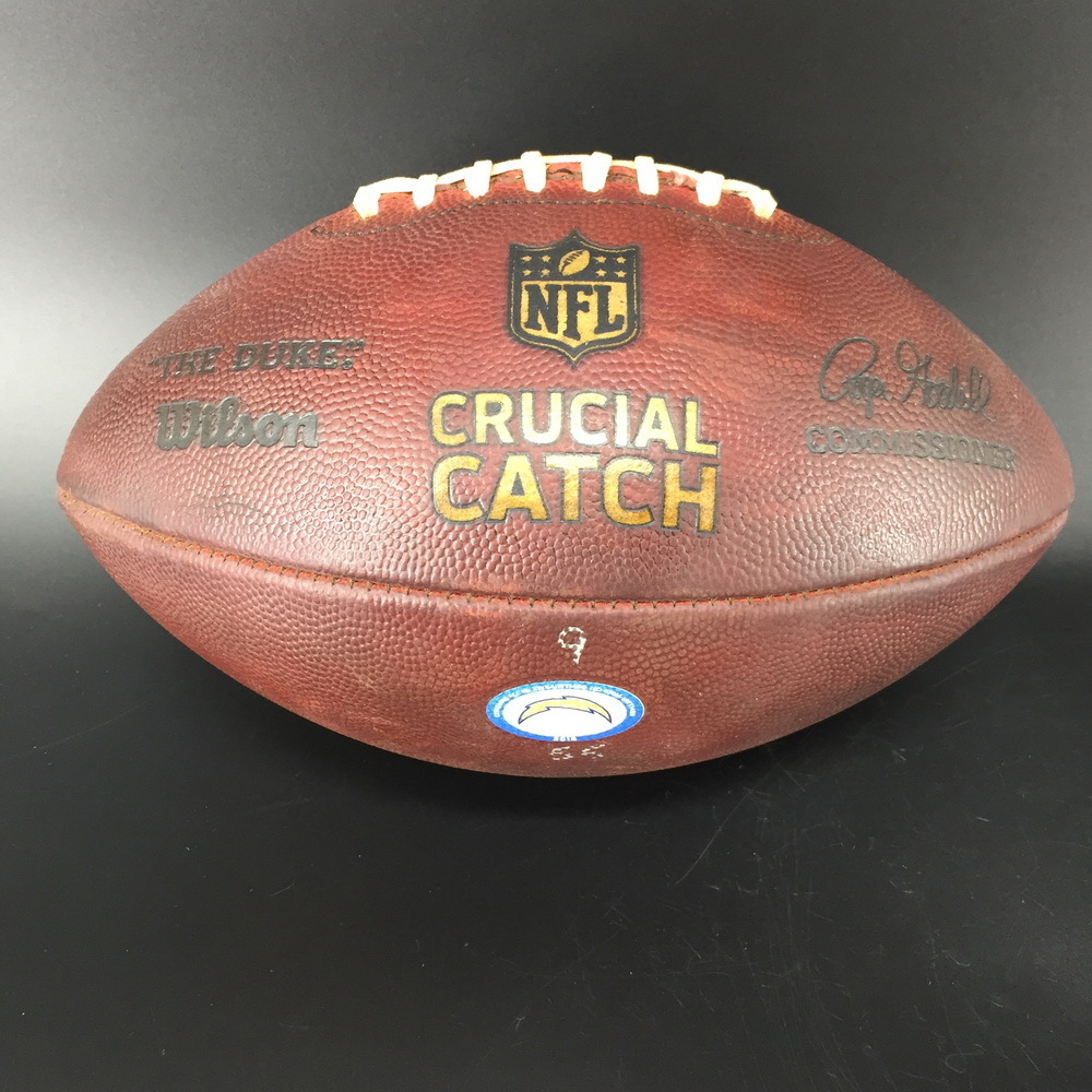 Crucial Catch - Chargers Game Used Football Chargers VS. Raiders (10.07.18)