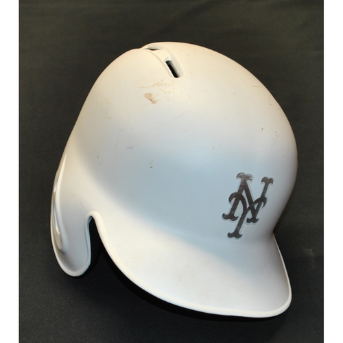 "Photo of Jeff ""FLYING SQUIRREL"" McNeil New York Mets Game-Used 2019 Players' Weekend Helmet"