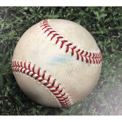 Photo of Game-Used Baseball CHC@MIL 07/26/19 - Josh Hader - Willson Contreras: Strikeout