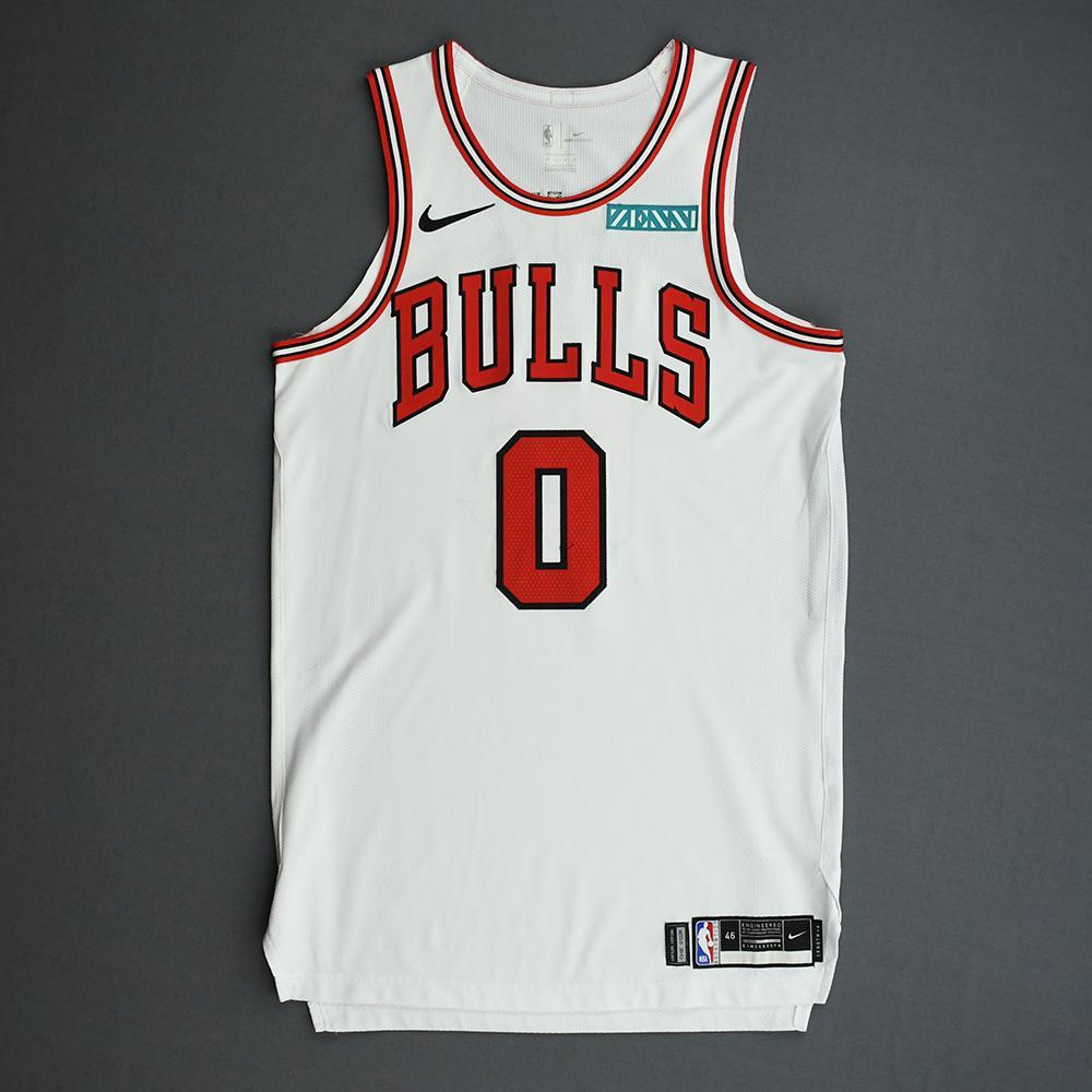 Coby White - Chicago Bulls - Game-Worn Association Edition Rookie Debut Jersey - Opening Night 2019-20 Season