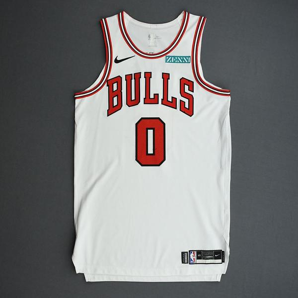 Image of Coby White - Chicago Bulls - Game-Worn Association Edition Rookie Debut Jersey - Opening Night 2019-20 Season