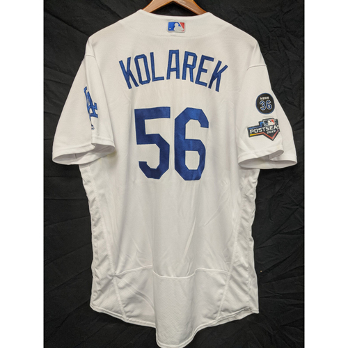 Photo of Adam Kolarek Game-Used 2019 Postseason Home Jersey