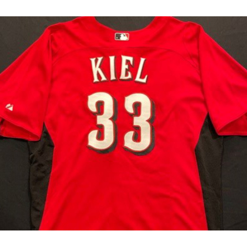 Photo of KIEL -- Authentic Reds Jersey -- $1 Jersey Auction -- $5 Shipping -- Size 48 (Not MLB Authenticated)