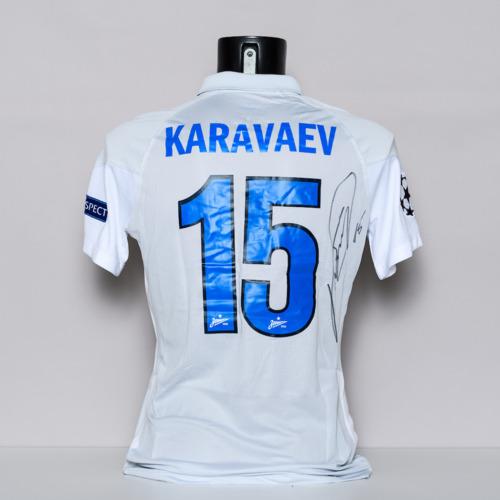 Photo of 20/21 Football Club Zenit Jersey - signed by Vyacheslav Karavayev