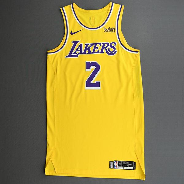 Image of Quinn Cook - Los Angeles Lakers - Kia NBA Tip-Off 2020 - Game-Worn Icon Edition Jersey