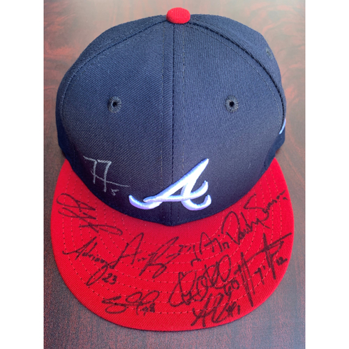 Photo of 2021 Atlanta Braves Infielder Autographed Hat