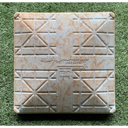 Photo of Game Used Base - 2nd Base, Innings 7-9 - Andres Gimenez First Career Stolen Base - Mets vs. Red Sox - 7/30/20