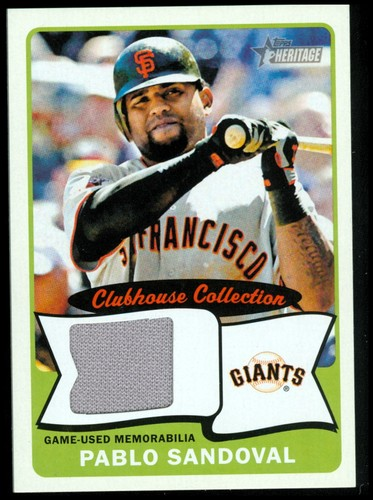 Photo of 2014 Topps Heritage Clubhouse Collection Relics #CCRPS Pablo Sandoval