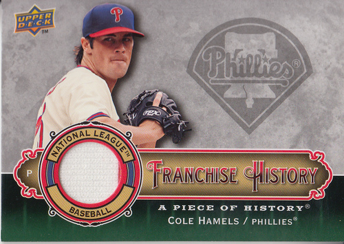 Photo of 2009 UD A Piece of History Franchise History Jersey #FHCH Cole Hamels