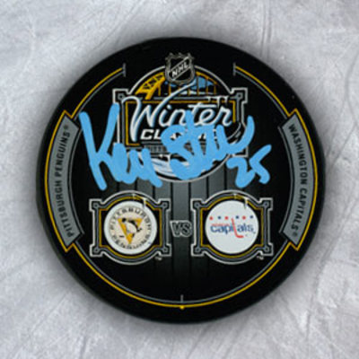 KEVIN STEVENS Pittsburgh Penguins Autographed 2011 Winter Classic Puck