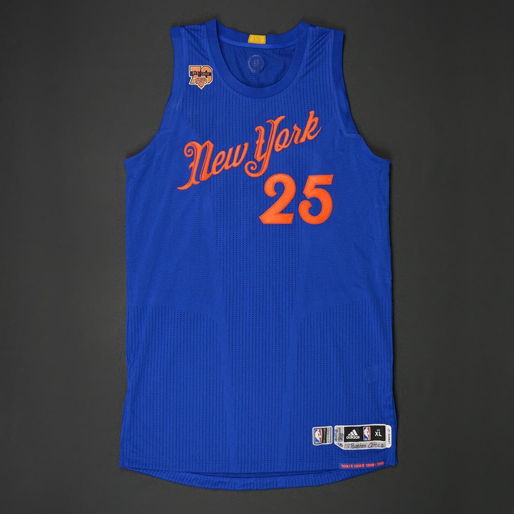 best sneakers f4f8b bd497 Derrick Rose - New York Knicks - NBA Christmas Day '16 ...