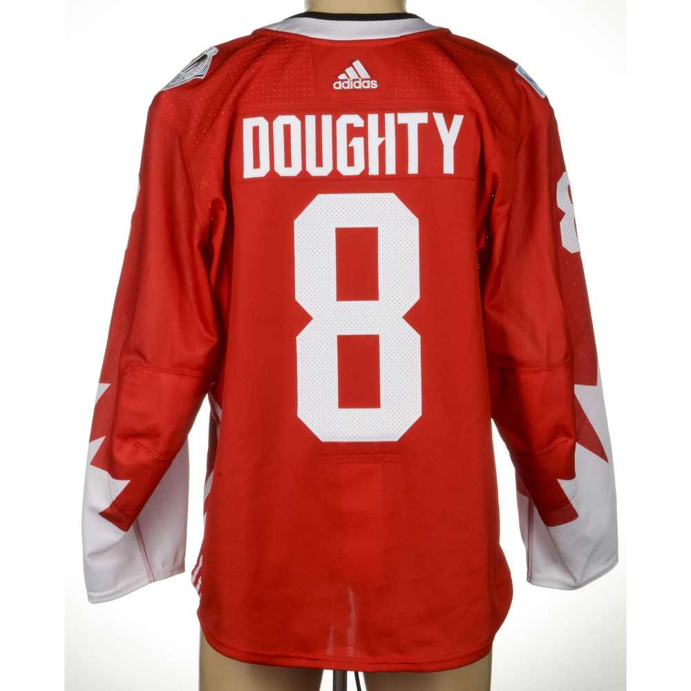 new styles 18d8b 0a8ee Drew Doughty LA Kings Game-Worn World Cup of Hockey 2016 ...