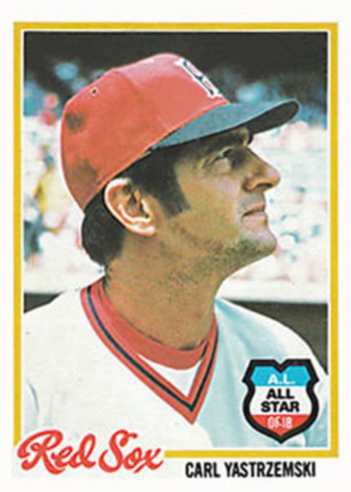 1978 Topps #40 Carl Yastrzemski -- Hall of Famer
