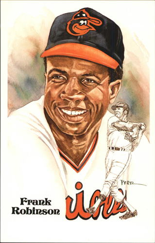 Photo of 1980-02 Perez-Steele Hall of Fame Postcards #180 Frank Robinson -- HOF Class of 1982