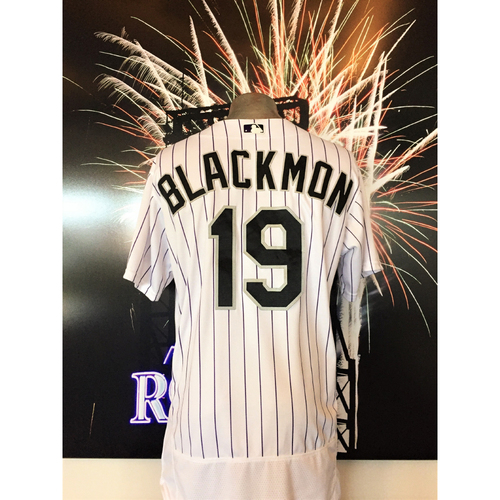 Photo of Rockies Outfield - Charlie Blackmon Game-Used Jersey - 9/16/2017 - Set NL Record