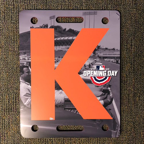 Photo of San Francisco Giants - 2018 Opening Day K-Board - Candlestick