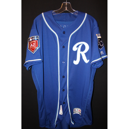 Photo of Game-Used Spring Training Jersey: Josh Staumont (Size 46)