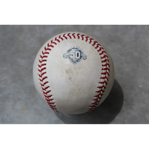 Photo of Game Used Baseball: C.J. Cron 402nd Career Hit (TB at KC - 5/15/18)