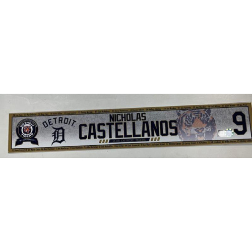 Photo of Game-Used Locker Name Plate: Nicholas Castellanos