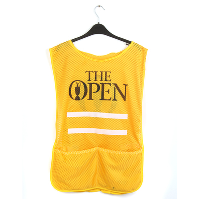 Photo of 147th Open Official Final Round Caddie Bib Yellow
