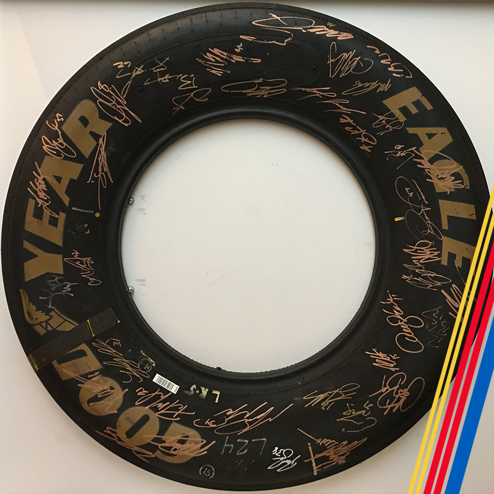 MENCS Autographed Goodyear Tire Slice!