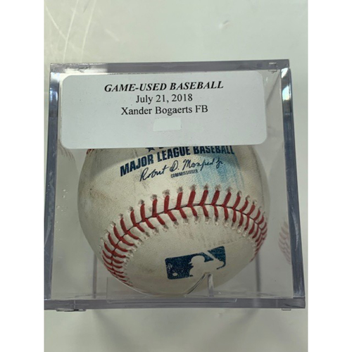 Photo of Game-Used Baseball: Xander Bogaerts Foul Ball