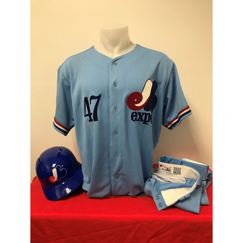 Photo of Howie Kendrick Expos Gear: Game-Used Jersey, Game-Used Pants, and Game-Used Batting Helmet