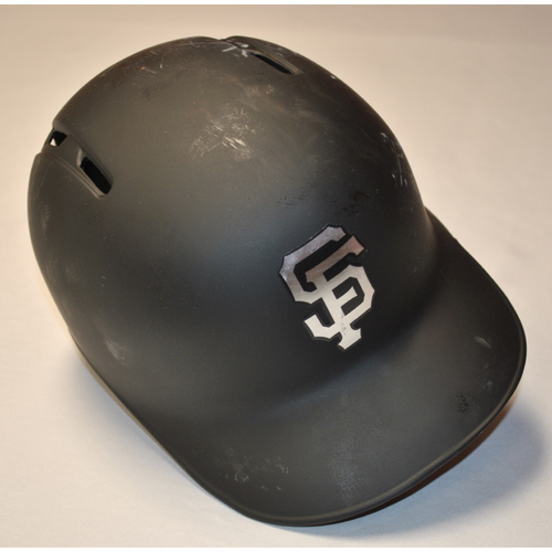 "Photo of Austin ""AC"" Slater San Francisco Giants Game-Used 2019 Players' Weekend Helmet"