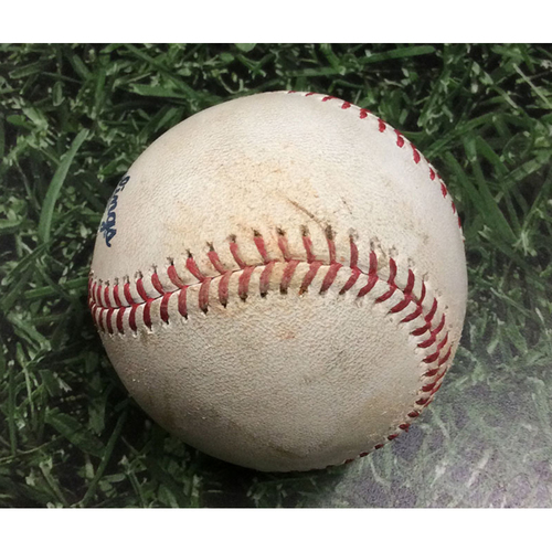 Photo of Game-Used Baseball CHC@MIL 07/27/19 - Chase Anderson - Kris Bryant: Strikeout