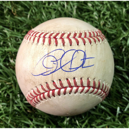 Photo of 20th Anniversary Autographed Game Used Baseball: Charlie Morton strikes out Daniel Robertson - July 1, 2018 v HOU