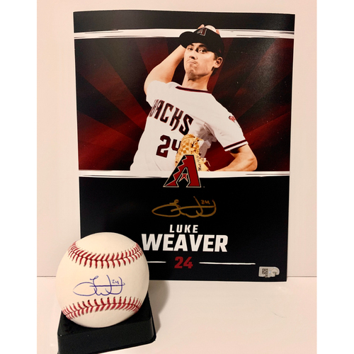 Photo of Luke Weaver Autographed 8x10 and Ball