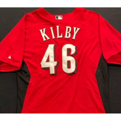 Photo of KILBY -- Authentic Reds Jersey -- $1 Jersey Auction -- $5 Shipping -- Size 46 (Not MLB Authenticated)