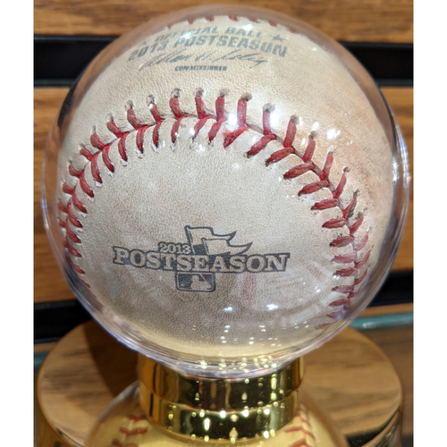 2013 ALCS Game 1 October 12, 2013 Red Sox vs. Tigers Game Used Baseball - Lester to Iglesias Pitch in Dirt