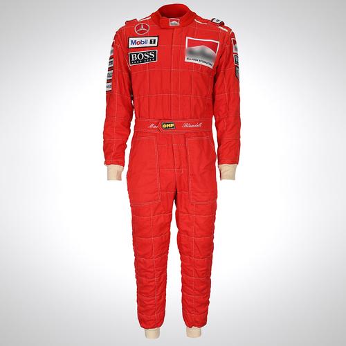 Photo of Mark Blundell 1995 McLaren Mercedes Race-worn Race Suit