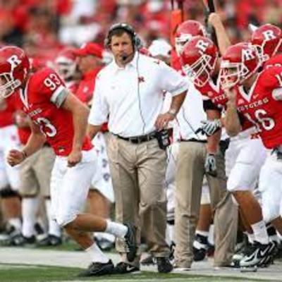 Rutgers Football Head Coach Greg Schiano Signed Football Helmet