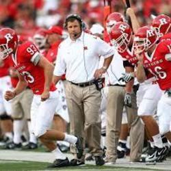 Photo of Rutgers Football Head Coach Greg Schiano Signed Football Helmet