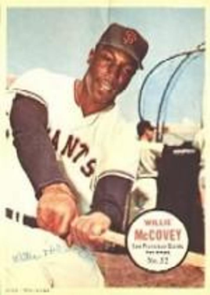 1967 Topps Posters Inserts #32 Willie McCovey