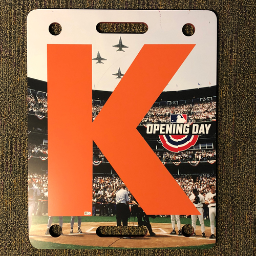 Photo of San Francisco Giants - 2018 Opening Day K-Board - AT&T Park