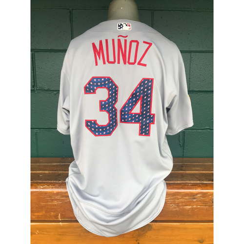 Photo of Cardinals Authentics: Game Worn Yairo Munoz 4th of July Jersey