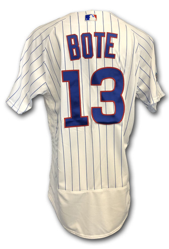 Photo of David Bote Team Issued Jersey -- 2018 Postseason Wild Card