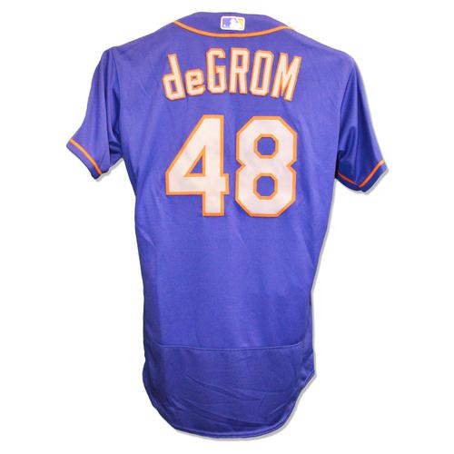 cda1fa77b Photo of Jacob deGrom #48 - Team Issued Blue Alt. Road Jersey - 2016
