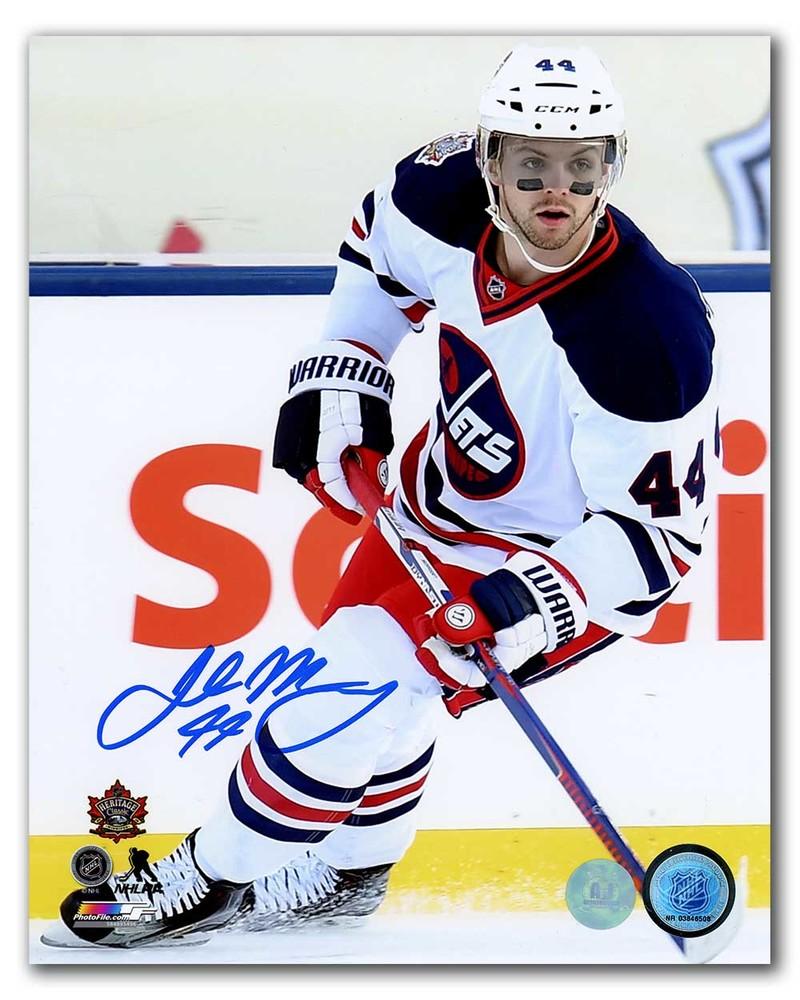 Josh Morrissey Winnipeg Jets Autographed 2016 Heritage Classic 8x10 Photo