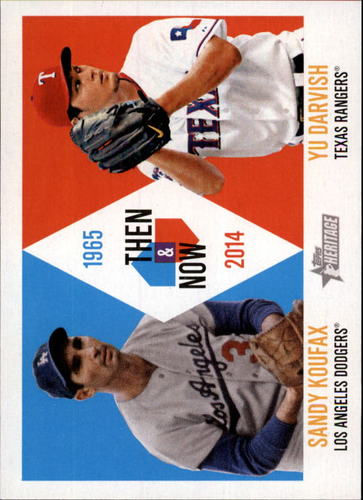 Photo of 2014 Topps Heritage Then and Now #TANKD Sandy Koufax/Yu Darvish