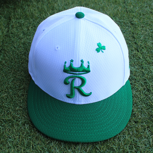 Photo of Team-Issued Saint Patrick's Day Cap: Jorge Lopez (Size 7 1/2 - SEA @ KC - 3/17/19)