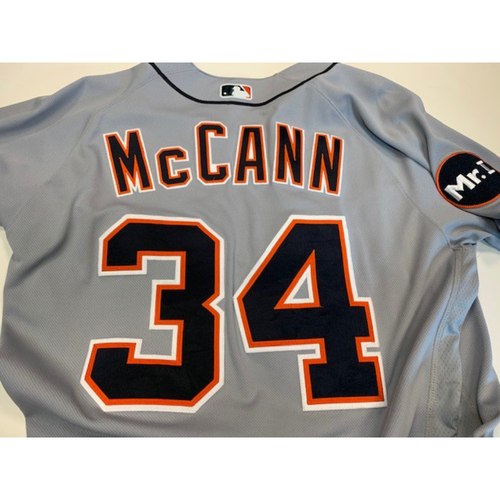 Photo of Game-Used Road Jersey: James McCann